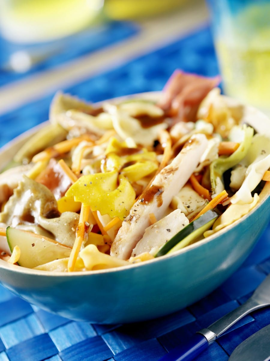 Chicken and vegetable pasta dish