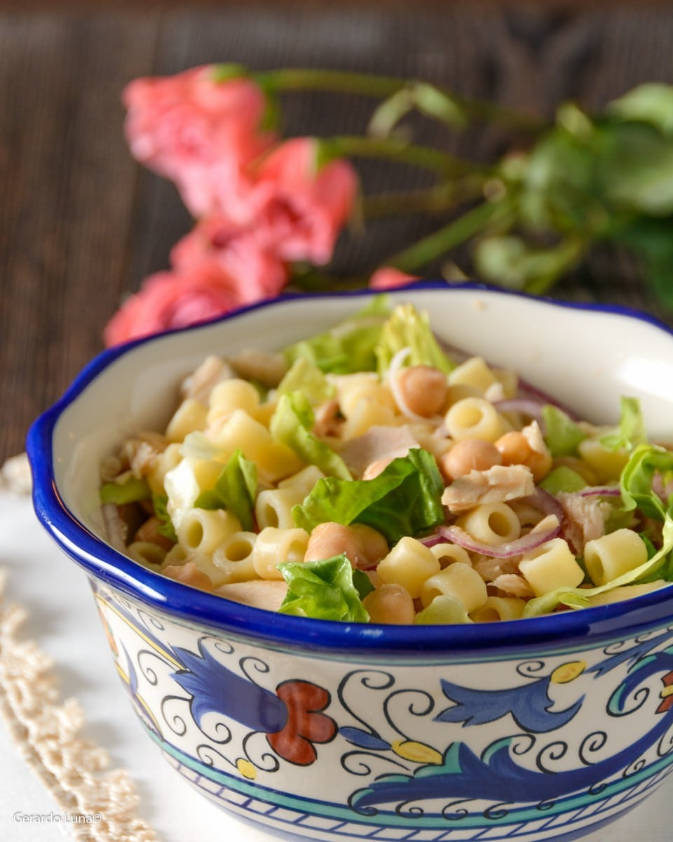 Tuna and Chickpea Pasta Salad Recipe